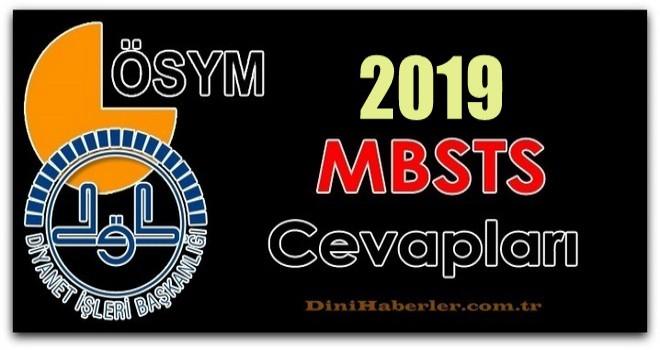 2019 MBSTS Sınavı Muhtemel Soru Cevapları