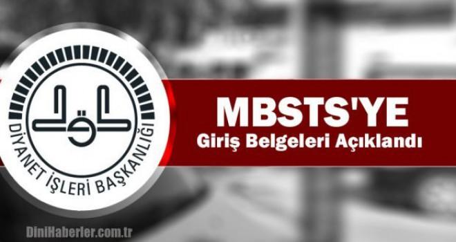 2019 MBSTS giriş belgeleri açıklandı