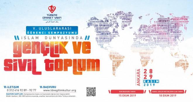 TDV'den İslam Dünyasında Gençlik ve Sivil Toplum sempozyumu
