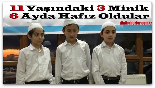 11 Yaşındaki 3 Minik Öğrenci 6 Ayda Hafız Oldular