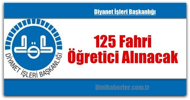 125 Fahri Öğretici Alınacak