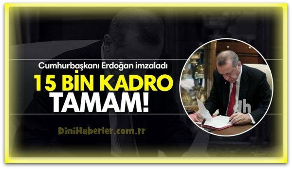15 Bin Kadro Tamam, Vekil ve Fahri Alımı Yok