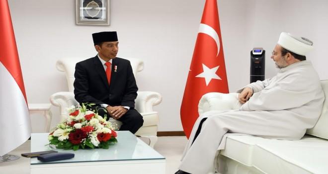 Endonezya Cumhurbaşkanı'ndan Kocatepe Camiine ziyaret…