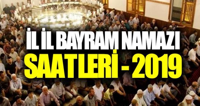 Bayram namazı saatleri 2019