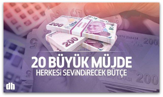 2017 bütçesinde 20 müjde