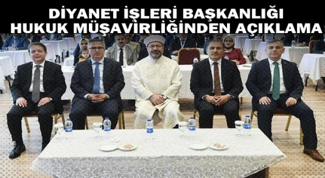 Diyanet Hukuk Müşavirinden Ankara Bürosuna Cevap