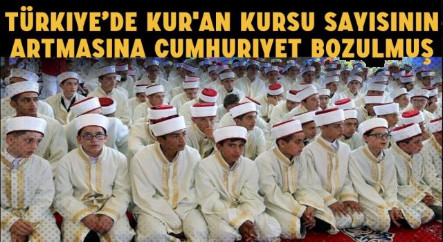 Türkiye'de Kur'an Kursu Sayısının Artmasına Cumhuriyet Bozulmuş...