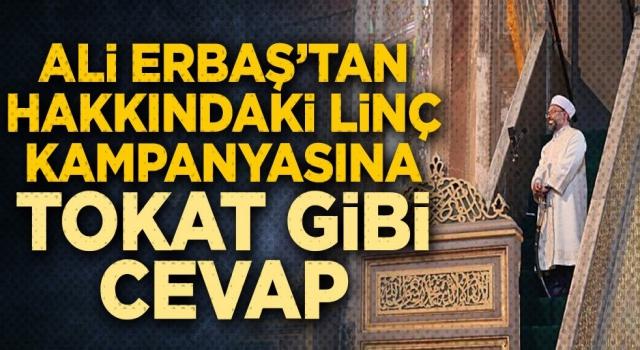 Başkan Erbaş, iddialara cevap verdi