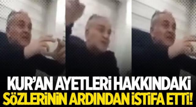 Prof. Dr. Mustafa Öztürk istifa etti
