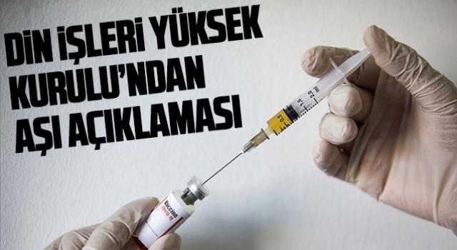 Din İşleri Yüksek Kurulu'ndan aşı açıklaması