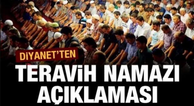 Din İşleri Yüksek Kurulu'ndan teravih namazı açıklaması
