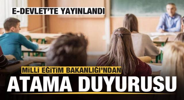 20 bin Öğretmen ataması E-Devlet'te yayınlandı