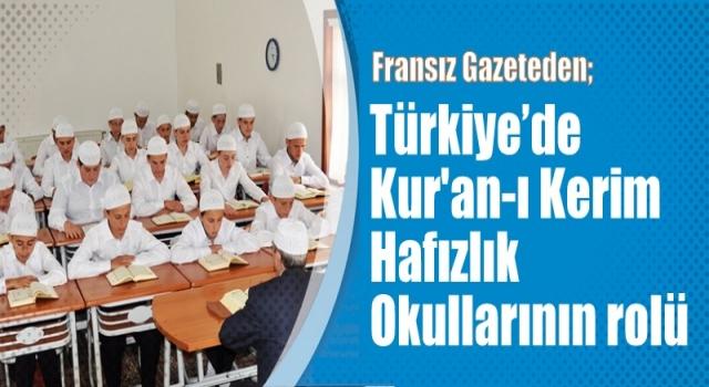 Türkiye'de Kur'an-ı Kerim hafızlık okullarının rolü