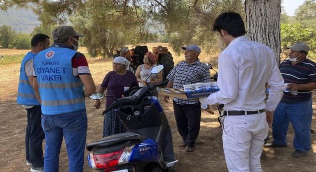 Din görevlileri orman yangınlarıyla mücadeleye destek oluyor