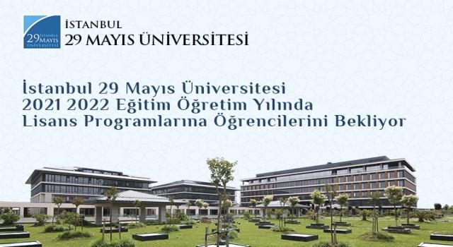 İstanbul 29 Mayıs Üniversitesi öğrencilerini bekliyor