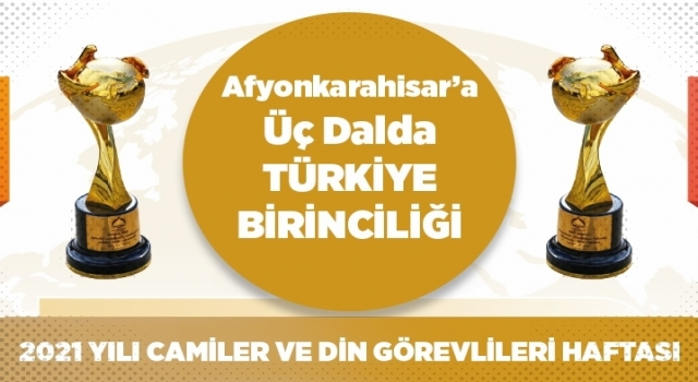 Afyonkarahisar'a üç dalda Türkiye birinciliği
