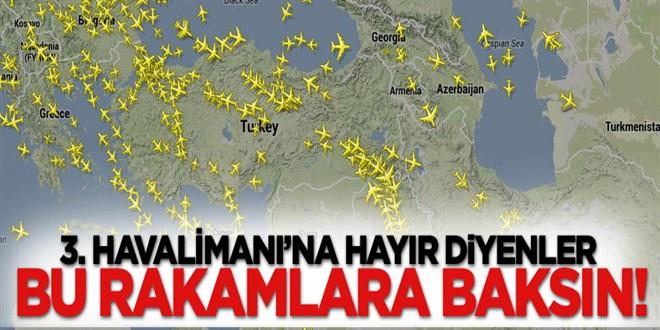 3. Havalimanı\'na hayır diyenler bu rakamlara baksın!