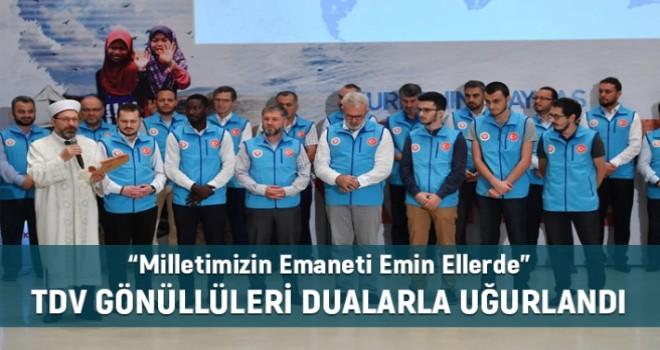 Vekâletle Kurban Organizasyonu Gönüllüleri Uğurlandı