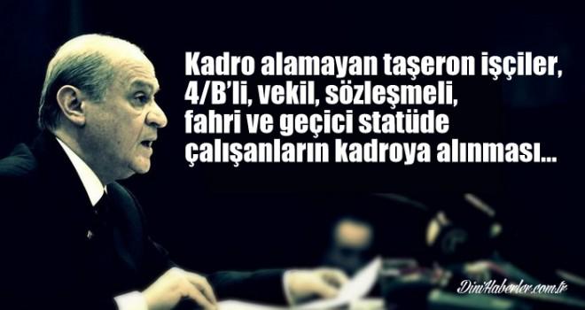 Vekil, Sözleşmeli, Fahri ve Geçici Öğreticiler MHP''nin Seçim Beyannamesinde