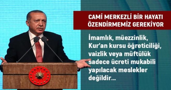 Cumhurbaşkanı Erdoğan, din görevlileri ile buluştu