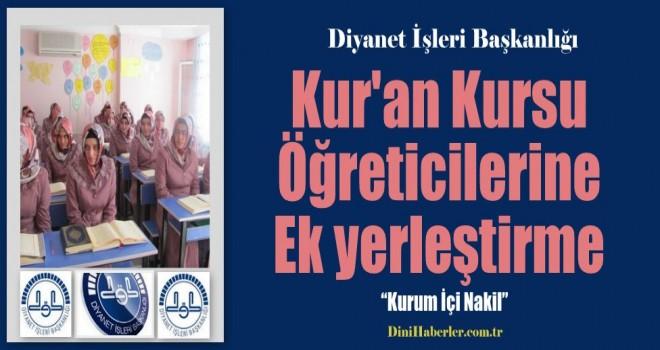 Kur'an Kursu Öğreticilerine ek yerleştirme müjdesi