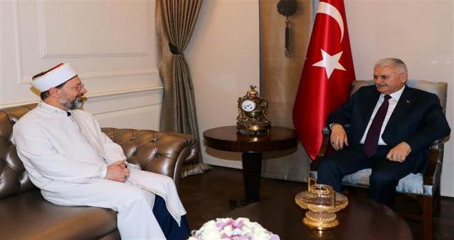 Başbakan Yıldırım Erbaş'ı kabul etti