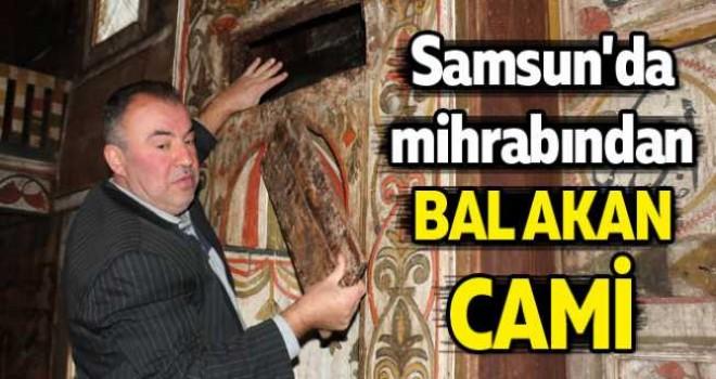 Samsun'da mihrabından bal akan cami