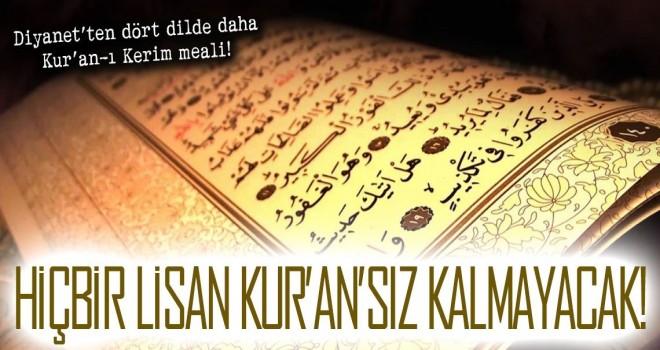 Diyanet'ten dört dilde daha Kur'an-ı Kerim meali