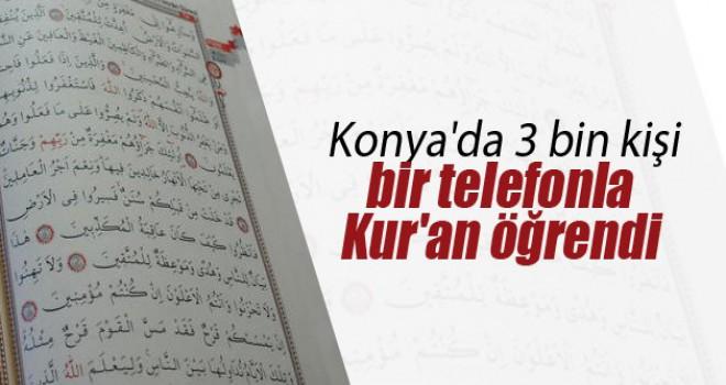 3 bin kişi bir telefonla Kur'an okumayı öğrendi