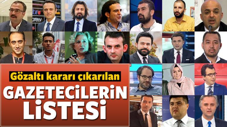 42 gazeteci için gözaltı kararı-işte isim listesi
