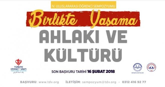 """Türkiye Diyanet Vakfı'ndan """"Birlikte Yaşama Ahlakı ve Kültürü"""" sempozyumu"""