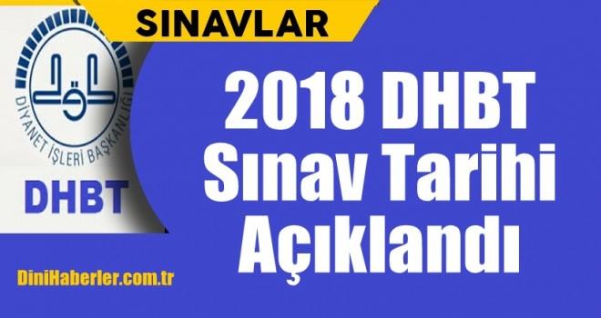 2018 DHBT Sınav Tarihi