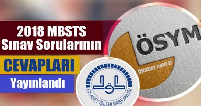 2018 MBSTS Sınav Sorularının Cevapları