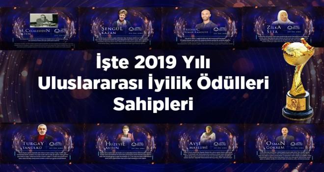 2019 Uluslararası İyilik Ödülleri Sahipleri