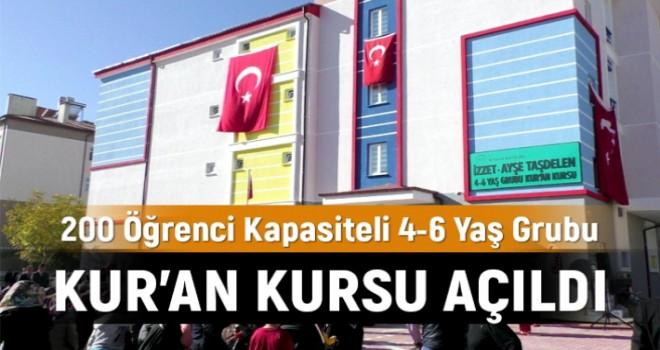 Beyşehir'de 200 öğrenci kapasiteli 4-6 yaş Kur'an kursu