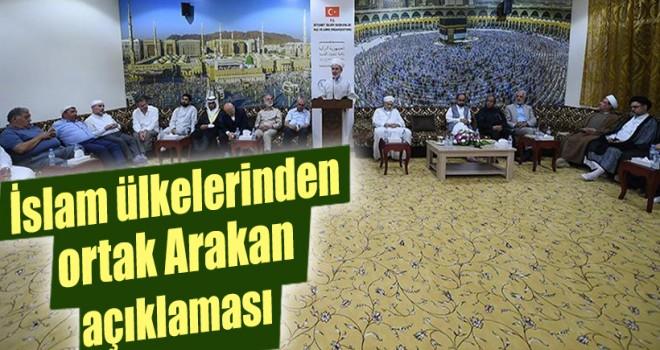 İslam ülkelerinden Mekke'de, ortak Arakan açıklaması…