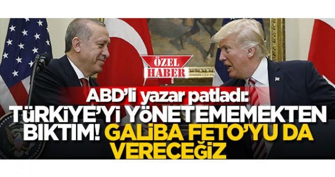 Amerikalı yazar, Türkiye'nin istedikleri gibi olmamasından yakındı, 'Bıktım artık' dedi
