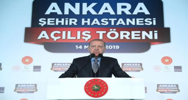 Ankara Şehir Hastanesi dualarla açıldı
