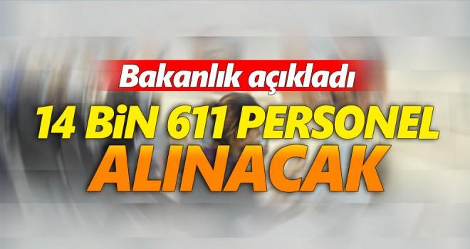 Adalet Bakanlığı 14 bin 611 personel alımı yapacak