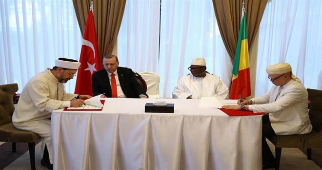 Mali Cumhuriyeti ile Din Hizmetleri Alanında Mutabakat Zaptı imzalandı