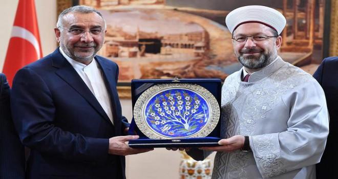 Başkan Erbaş, İran Ankara Büyükelçisini kabul etti