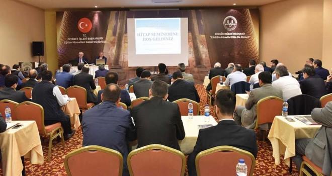 Antalya'da Hizmet Takip Programıyla ilgili eğitim verildi