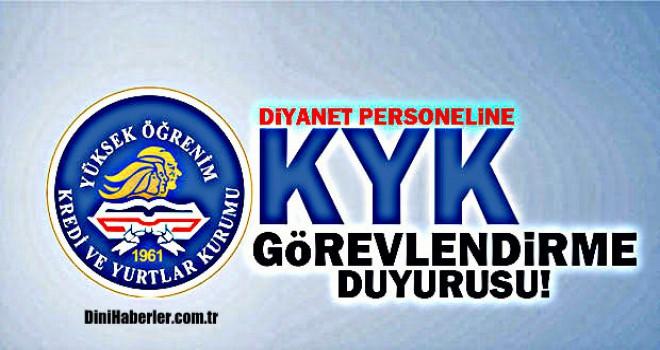 Diyanet'ten 2018-2019 KYK Görevlendirme Duyurusu