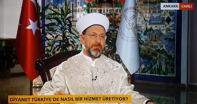 Diyanet İşleri Başkanı Erbaş, Tv Net özel yayınına katıldı