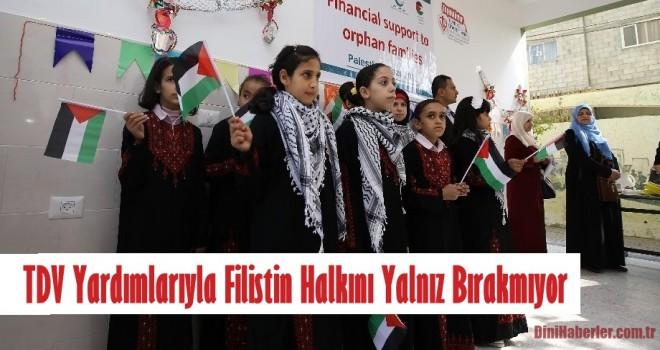 Türkiye Diyanet Vakfı Yardımlarıyla Filistin Halkını Yalnız Bırakmıyor
