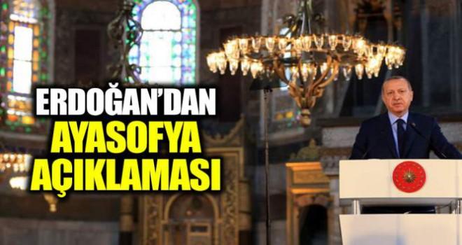 Erdoğan'dan flaş 'Ayasofya' müjdesi