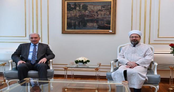 Erbaş, İstanbul Büyükşehir Belediye Başkanı Uysal'ı ziyaret etti