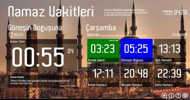İstanbul'da Sabah Namaz Vakitleri Değiştirildi.
