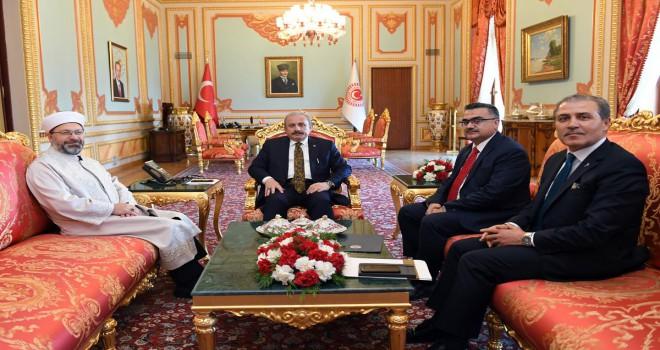 TBMM Başkanı Şentop, Diyanet İşleri Başkanı Erbaş'ı kabul etti