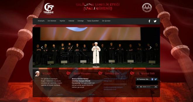 Diyanet'ten 15 Temmuz'a özel internet sitesi yayında